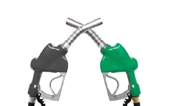 petrol and diesel pump